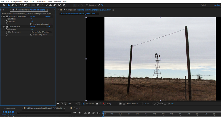 How to Create a Mid-'90s DV Camcorder Look in After Effects — Gaussian Blur