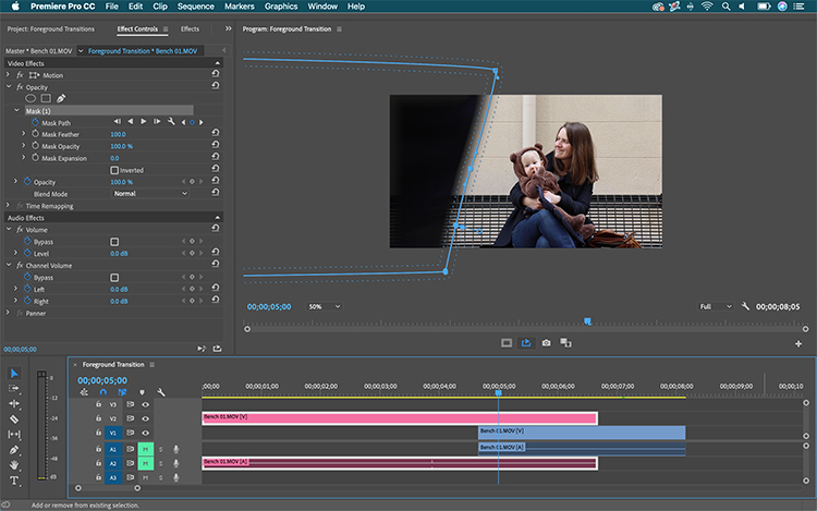 Video Tutorial: How to Create a Seamless Foreground Transition — Animate a Mask