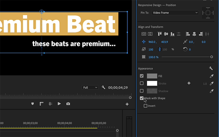 6 New Features in Premiere Pro's Essential Graphics Panel - Masks