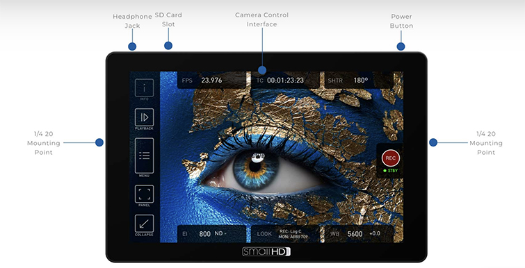 """NAB 2019: SmallHD Announces Their Camera Controlled 7"""" Monitor — Display"""