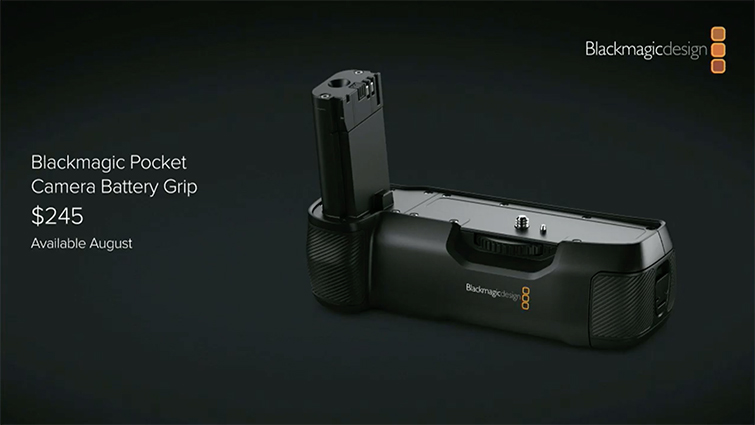 Nab 2019 Blackmagic Design Announces New Battery Grip For The Bmpcc4k