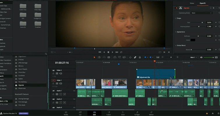 NAB 2019: DaVinci Resolve 16 — What's New and Updated — Adjustment Clip