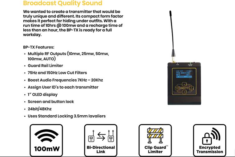 NAB 2019: Deity Finally Releases Their New 2.4Ghz Wireless System — Specs