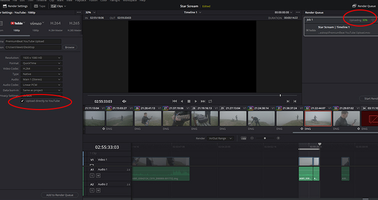 How to Upload to YouTube Directly from DaVinci Resolve 16 - Upload to YouTube
