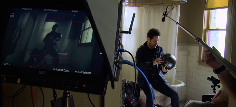 The Cameras and Lenses Behind the Marvel Cinematic Universe (Phase Two) - Camera Perspective on Paul Rudd