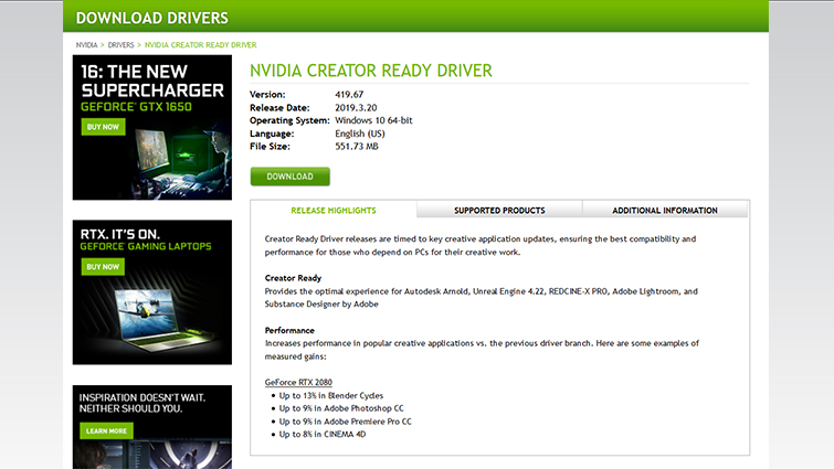 Think Reliable: Inside Nvidia's New Creator-Ready Update — Download Drivers
