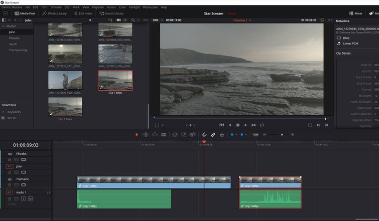How to Work With Different Frame Rates With the Same File in Resolve - Duplicate Base Clip