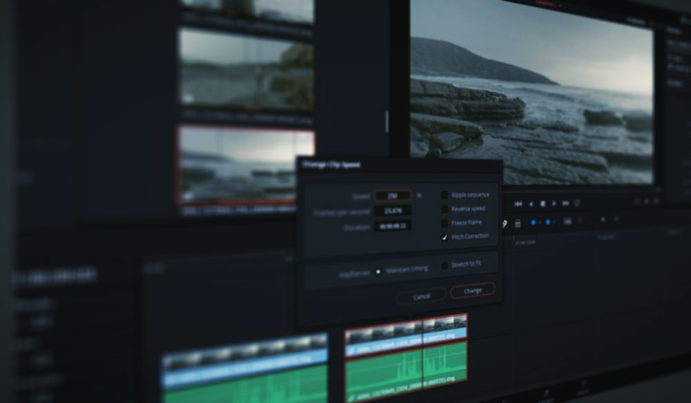 Working with Different Frame Rates in the Same File in Resolve