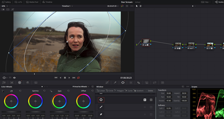 Learn How to Fix a Variable ND Filter Vignette in Resolve - Vignette First Node