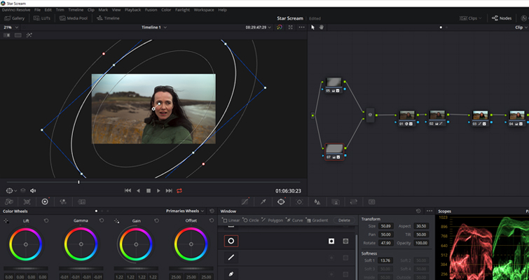 Learn How to Fix a Variable ND Filter Vignette in Resolve - Vignette Second Node