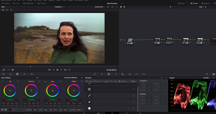 Learn How to Fix a Variable ND Filter Vignette in Resolve - Vignette after First Node