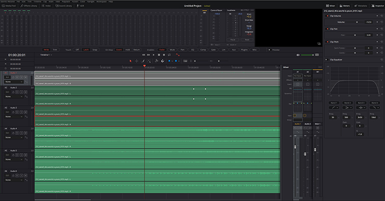 Download, Prep, and Import Song Stems to Your Favorite NLE — Audio Levels in Fairlight