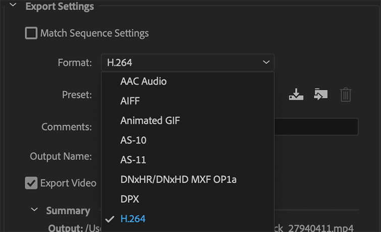 Pro Tip: Exporting a Finished Video from Premiere Pro — H.264 Codec