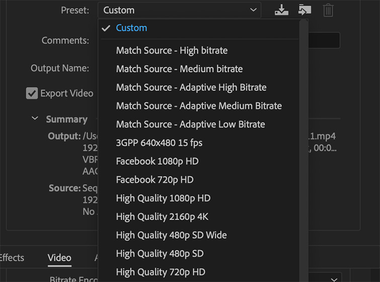 Pro Tip: Exporting a Finished Video from Premiere Pro — Customize Settings