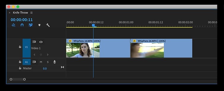 How to Speed Up or Reverse a Clip in Premiere Pro - Knife Throw