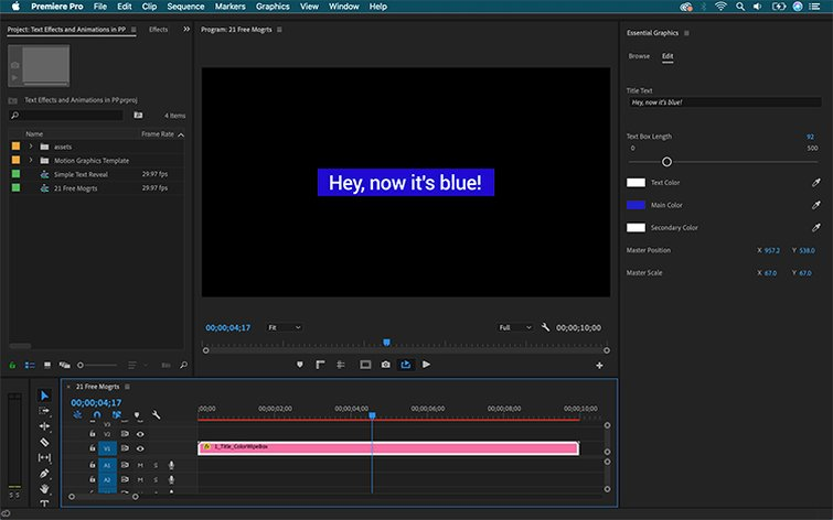 How to Create Text Effects and Animations in Premiere Pro - Customize