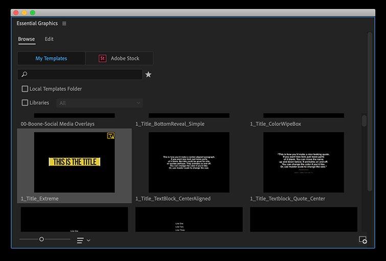 Animation Builder Premiere Pro