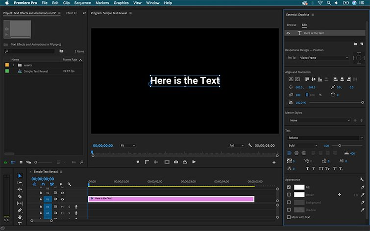 How to Create Text Effects and Animations in Premiere Pro - Add Text
