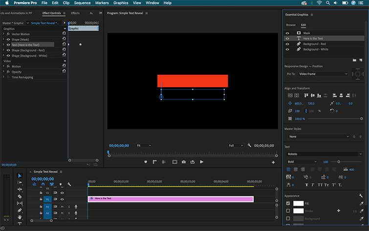 How to Create Text Effects and Animations in Premiere Pro - Animate and Text Background