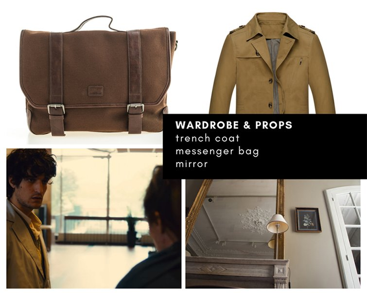 Mood board — wardrobe and props