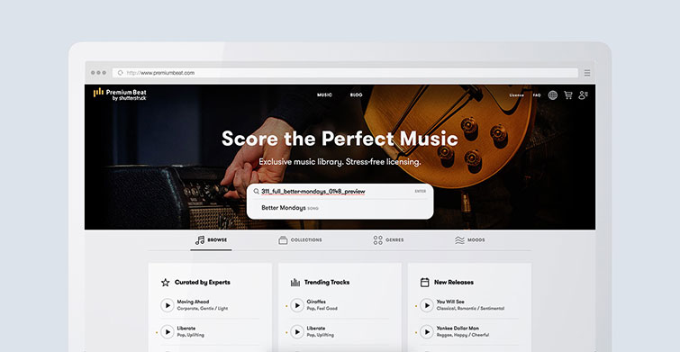 Finding Perfect Music Is Easier and Faster with PremiumBeat — Multiple Search Pages