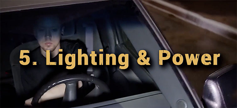 Lighting and power for your car rig