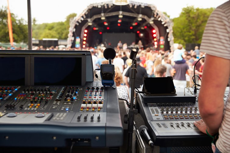 Sound Board at Outdoor Concert