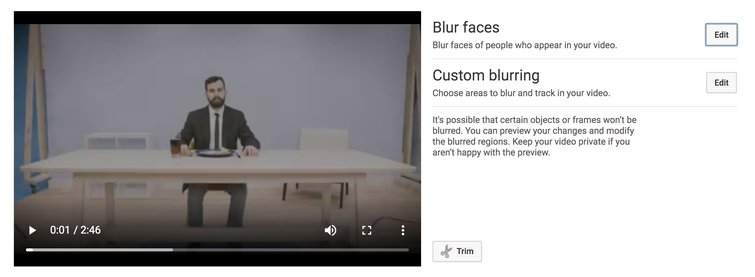 Reviewing YouTube's New Non-Linear Video Editor — Blur Options