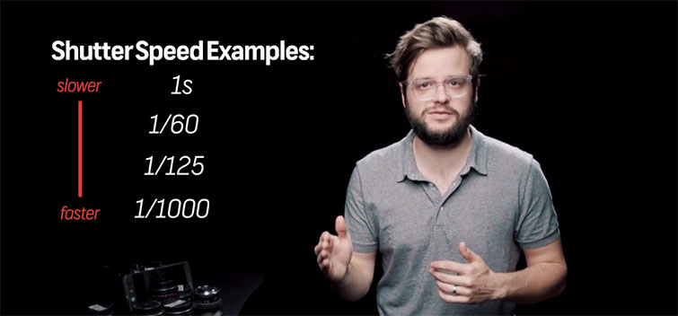 Shutter speed examples