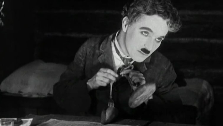 "Charlie Chaplin in ""The Gold Rush"""