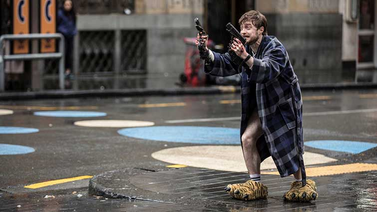 Daniel Radcliffe on Set - Guns Akimbo