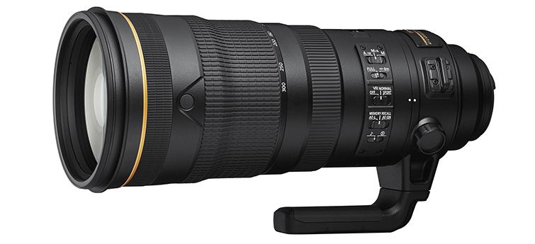 delayed Nikkor AF-S 120-300mm f/2.8 lens