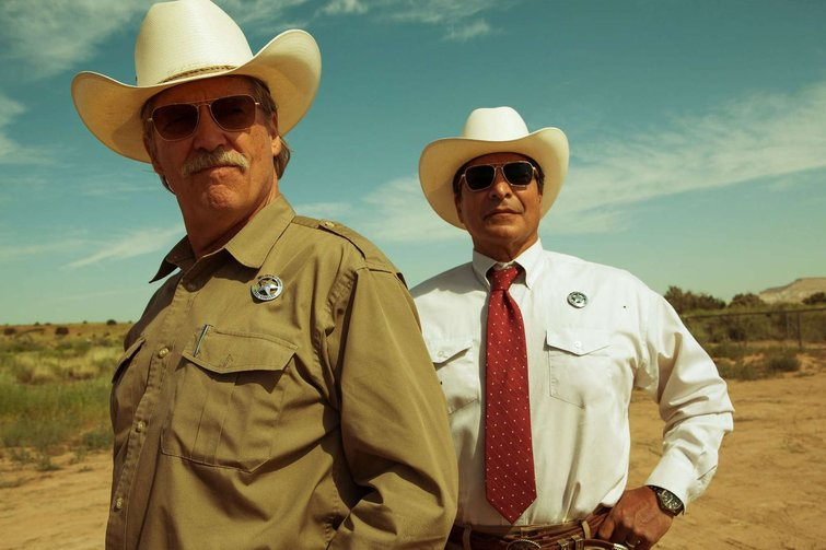 """Jeff Bridges and Gil Birmingham in """"Hell or High Water"""""""