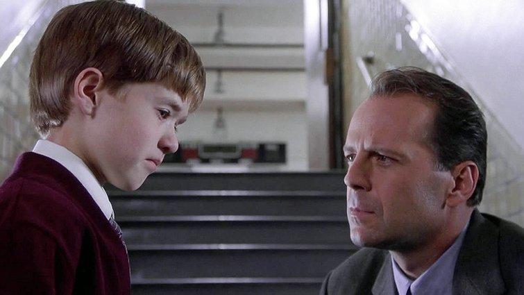 "Hayden Joel Osment and Bruce Willis in ""The Sixth Sense"""