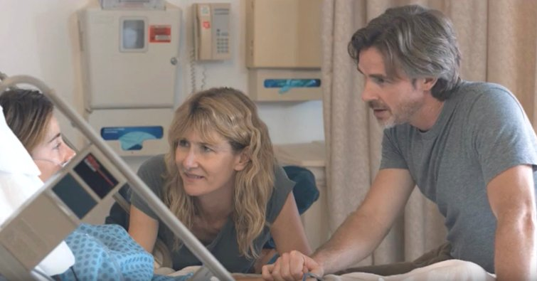 """Shailene Woodley, Laura Dern, and Sam Trammell in """"The Fault in Our Stars"""""""