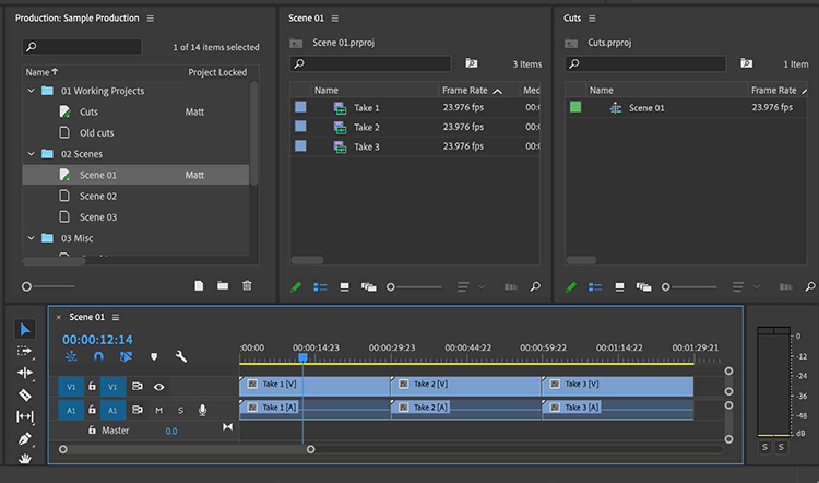 Premiere Pro's New Productions Feature: Evolution of the Project File — An End to Duplicate Clips