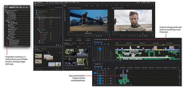 Premiere Pro's New Productions Feature: Evolution of the Project File — A Closer Look