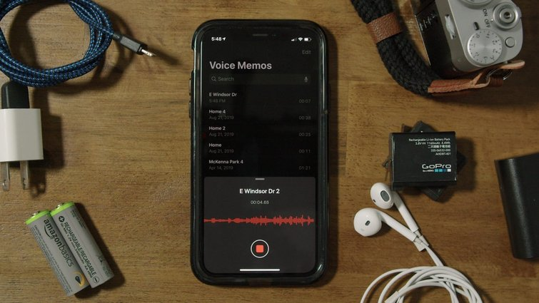 Recording audio from smartphone