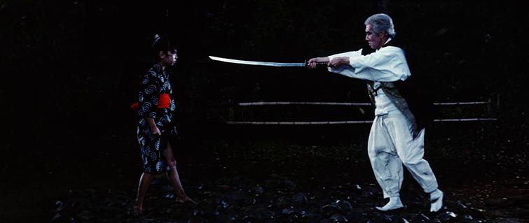 "Kô Nishimura and Mayumi Maemura in ""Lady Snowblood"""