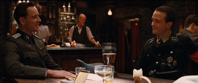 "Michael Fassbender and August Diehl in ""Inglorious Basterds"""