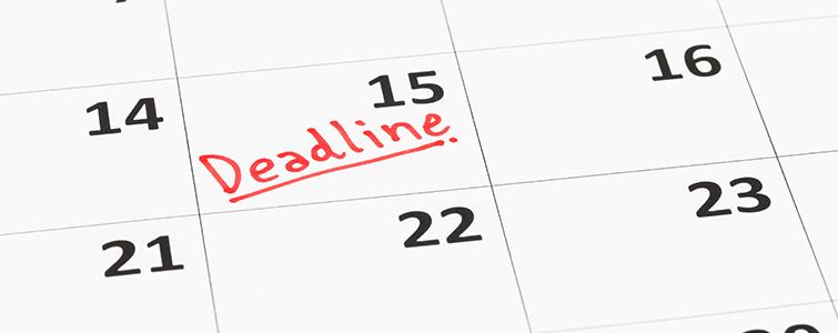 Hit your deadline.