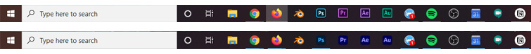 Dear Adobe, Please Change the App Icons Back to Their Individual Colors - Taskbar After