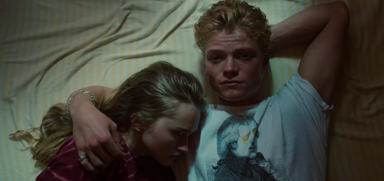 India Fowler and Tom Rhys Harries in White Lines