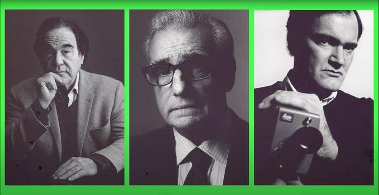 Directors Oliver Stone, Martin Scorsese, and Quentin Tarantino