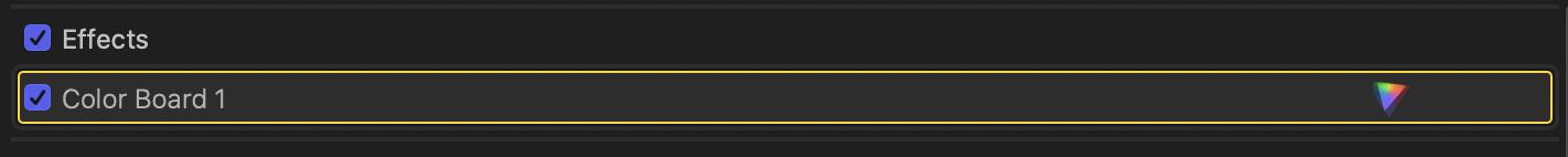 Custom FCPX Keyboard Shortcut: Add Color Board Effect