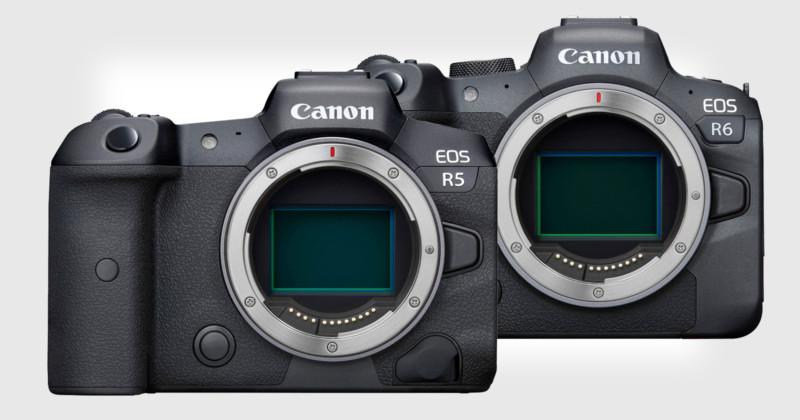 Canon EOS R5 and EOS R6
