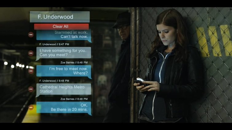 Place Text Messages Next to Actor