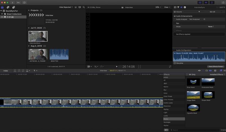 Final Cut Pro X: Drag Clip into Timeline