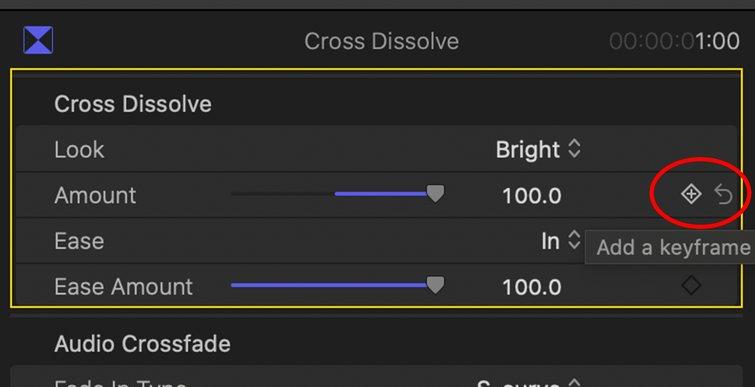 Final Cut Pro X: Cross Dissolve