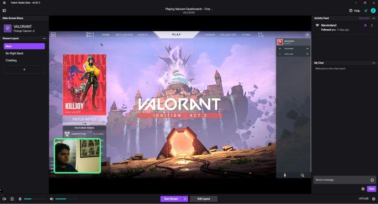 Twitch Studio: Stream Window